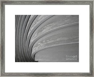 Wood Swirl Framed Print by Karen Sydney