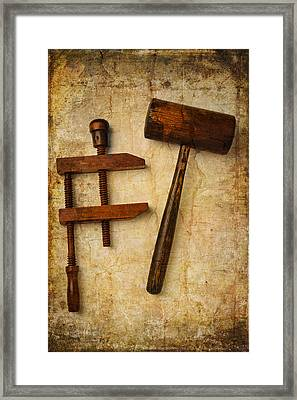 Wood Tools Framed Print