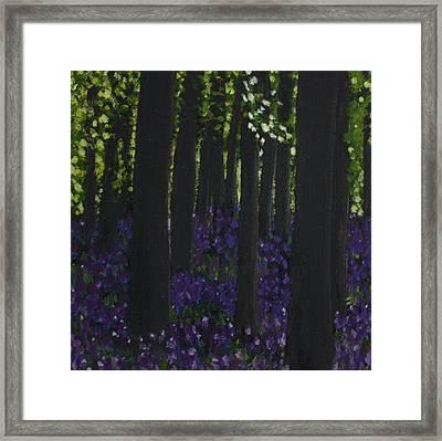 Woodbells Framed Print by Lorraine Fenlon