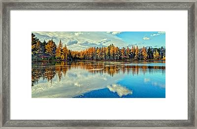 Woodcraft Camp Panorama Framed Print by David Patterson