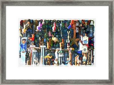 Woodcraft Giftshop In Montour Falls Framed Print