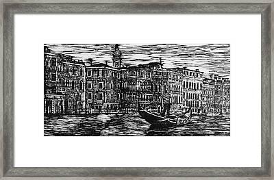 Woodcut Of Venice  Framed Print