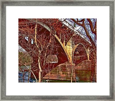 Wooded Gervais Toned Framed Print by Edward Shmunes