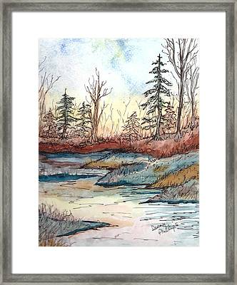 Wooded Landscape Framed Print by Denny Phillips