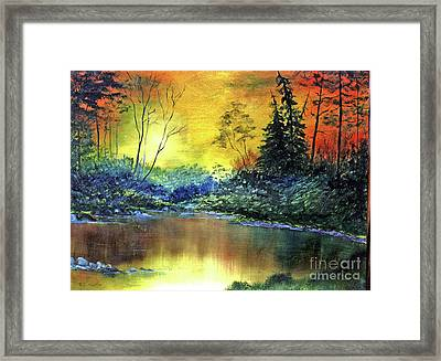 Wooded Serenity Framed Print by Dee Flouton