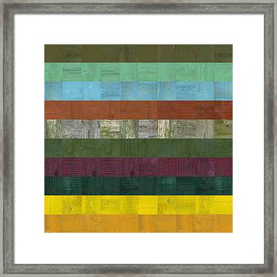 Wooden Abstract Lll Framed Print