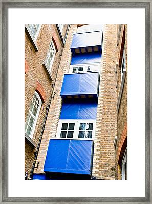 Wooden Balconies Framed Print