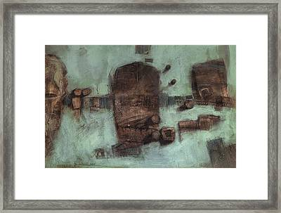 Symbol Mask Painting - 05 Framed Print