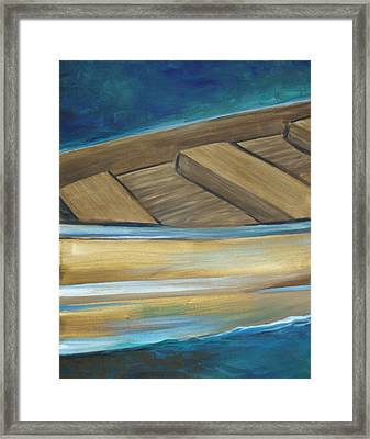 Wooden Boat Framed Print by Amie  La Voie-Moore