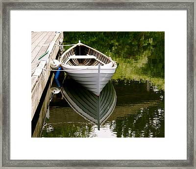 Wooden Boat Framed Print by Sonja Anderson