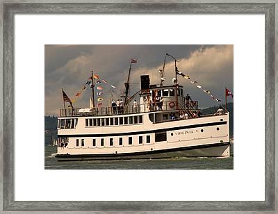 Wooden Boat Virginia V Framed Print by Robert Torkomian