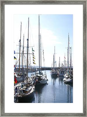Wooden Boats Framed Print by Sonja Anderson