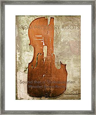 Wooden Bones Recite  Framed Print by Steven Digman
