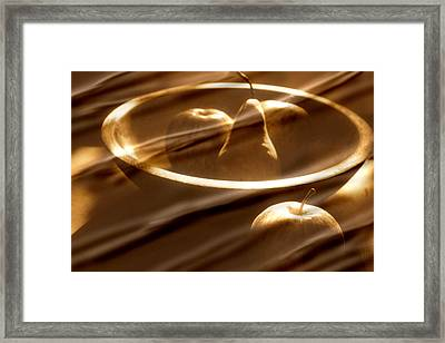 Wooden Bowl With Fruit Framed Print