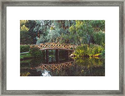 Framed Print featuring the photograph Wooden Bridge by Ari Salmela