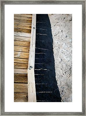 Wooden Bridge  Framed Print by Catherine Lau