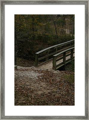 Framed Print featuring the photograph Wooden Bridge by Kim Henderson