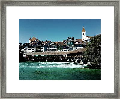Framed Print featuring the photograph Wooden Bridge by Mimulux patricia no No