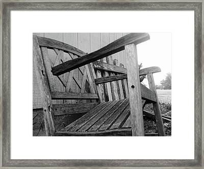 Wooden Chair Framed Print by Ali Dover