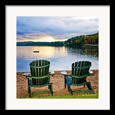 Wooden Chairs Framed Prints