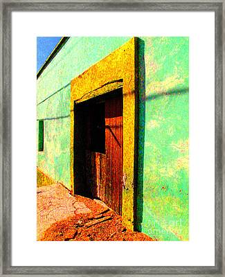 Wooden Door La Noria By Darian Day Framed Print by Mexicolors Art Photography