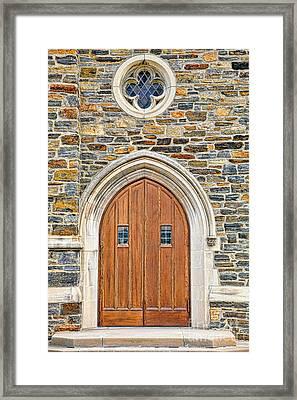 Wooden Doors Framed Print
