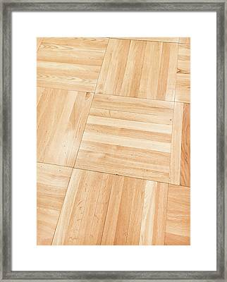 Wooden Floor Panels Framed Print by Tom Gowanlock