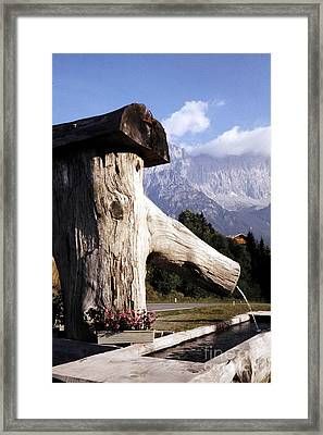 Wooden Fountain Framed Print