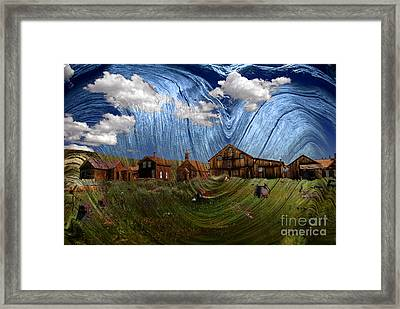 Wooden Ghost Town Framed Print by Ronald Hoggard