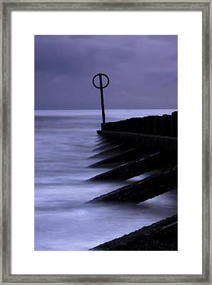 Wooden Groynes Of Aberdeen Scotland Framed Print by Gabor Pozsgai