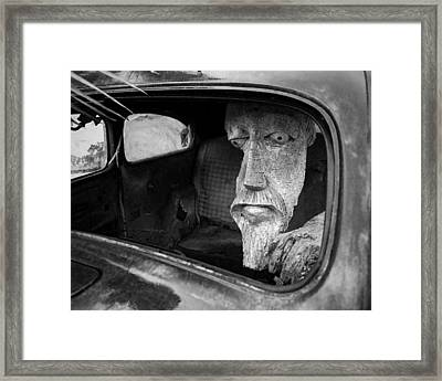 Wooden Head Framed Print