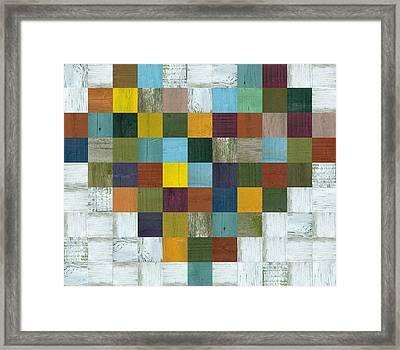Wooden Heart Framed Print by Michelle Calkins