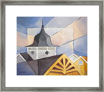 Wooden Houses Framed Print by Lutz Baar