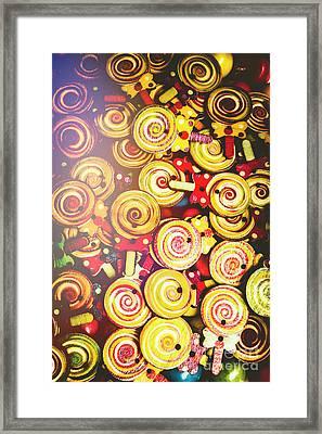 Wooden Lollipops Framed Print