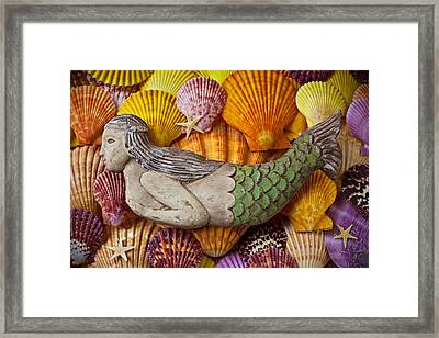 Wooden Mermaid Framed Print by Garry Gay