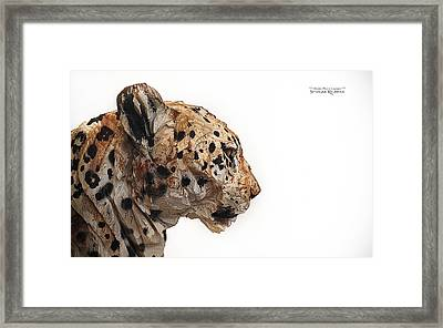 Framed Print featuring the photograph Wooden Panther by Stwayne Keubrick