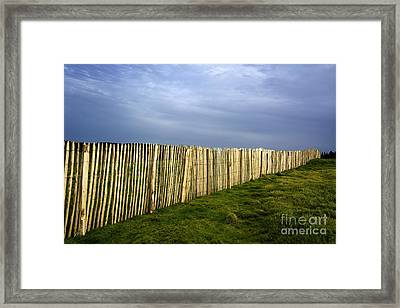 Wooden Picket Fence. Auvergne. France. Framed Print by Bernard Jaubert