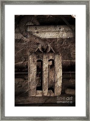 Wooden Pulley Framed Print