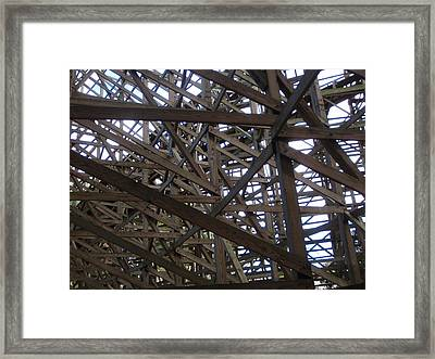 Wooden Rollercoaster Framed Print by Anthony Haight