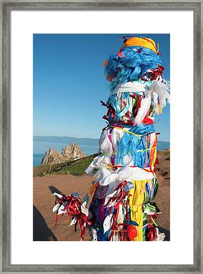 Wooden Shaman Totems  Framed Print