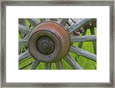 Wooden Spokes Framed Print
