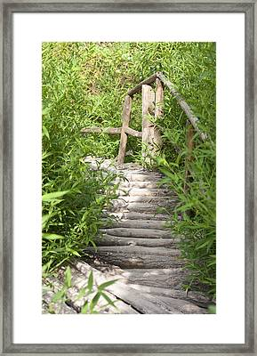 Wooden Stairs Framed Print by Boyan Dimitrov