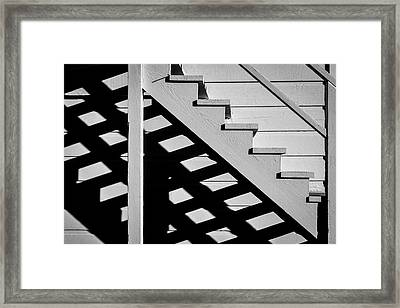 Wooden Stairs Framed Print by Garry Gay
