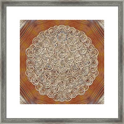 Wooden Starry Night And There Is Light Framed Print