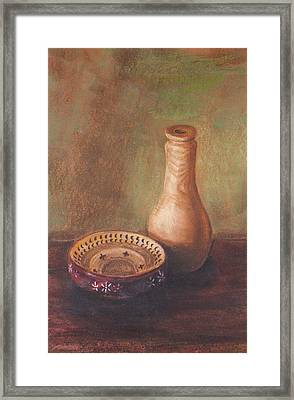 Wooden Vase Framed Print by Srilata Ranganathan
