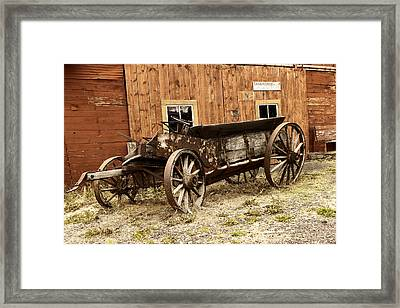 Wooden Wagon Framed Print by Jeff Swan