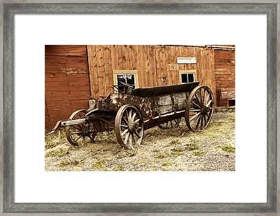 Wooden Wagon Framed Print by Jeff Swan
