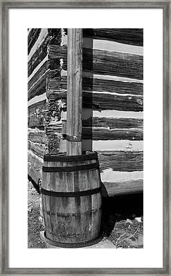 Wooden Water Barrel Framed Print by Douglas Barnett