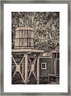 Wooden Water Tower Framed Print by Pamela Williams