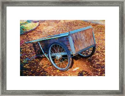 Wooden Wheelbarrow Framed Print